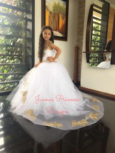 vestido primera comunión, bautizo exclusivo juanas princess