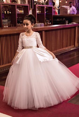 vestido primera comunión , bautizo , pajecita