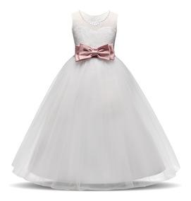 Vestido Primera Comunión Blanco Premium Envío Incluido
