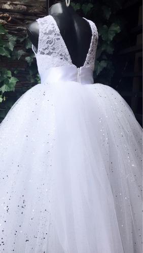 vestido primera comunión escarchado juanas princess