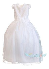 Vestido Primera Comunion Gala De Lujo Niña Exclusivo Mary