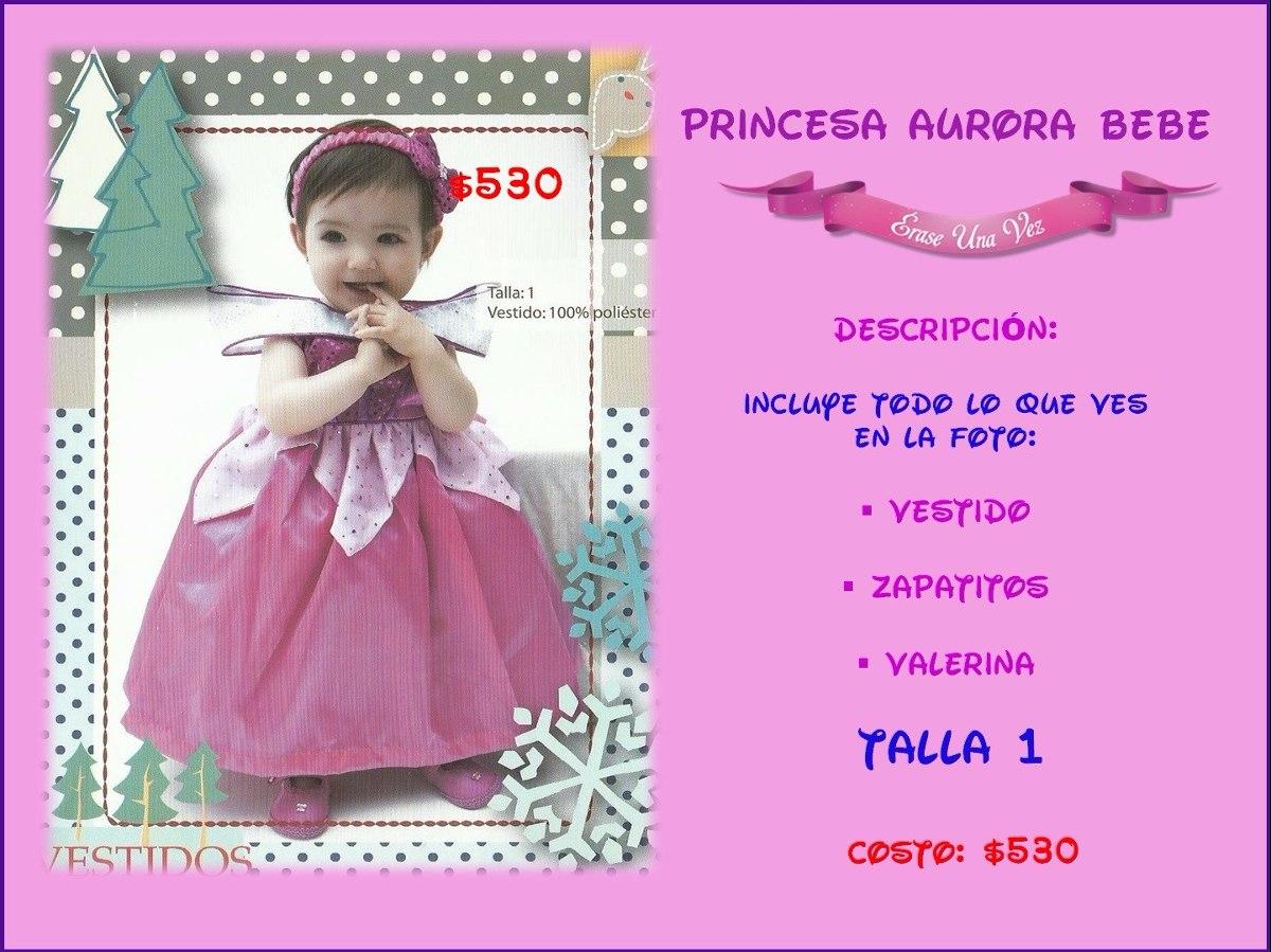 Vestido Princesa Aurora Bebe Bella Durmiente Disfraz Calidad ...