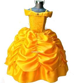 Vestido Princesa Bella Disfraz Elsa Bella De Lujo