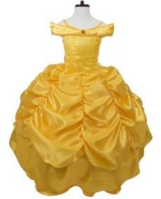Vestido Princesa Bella Disfraz Lujo Bestia Niña Bebe Envío G