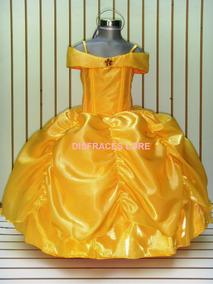 Vestido Princesa Bella Talla 10 Años