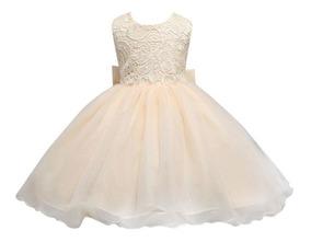Vestido Princesa Color Durazno Con Hermoso Escote Espalda