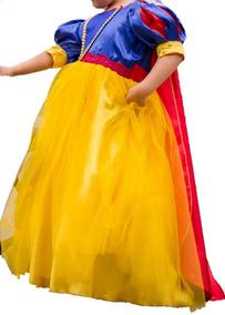 Blanca Vestido Princesa De Niña Disney Años 4 Nieves Talla yvm8On0wN