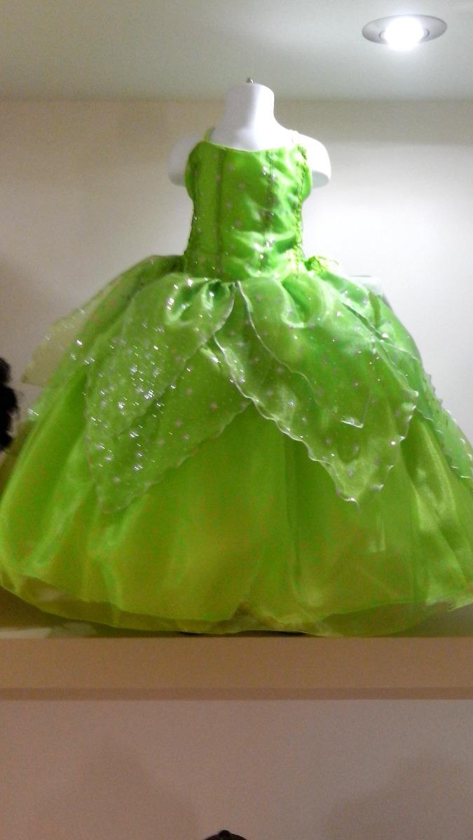 Vestido Princesa Disfraz Campanita Usado En Buen Estado 35000