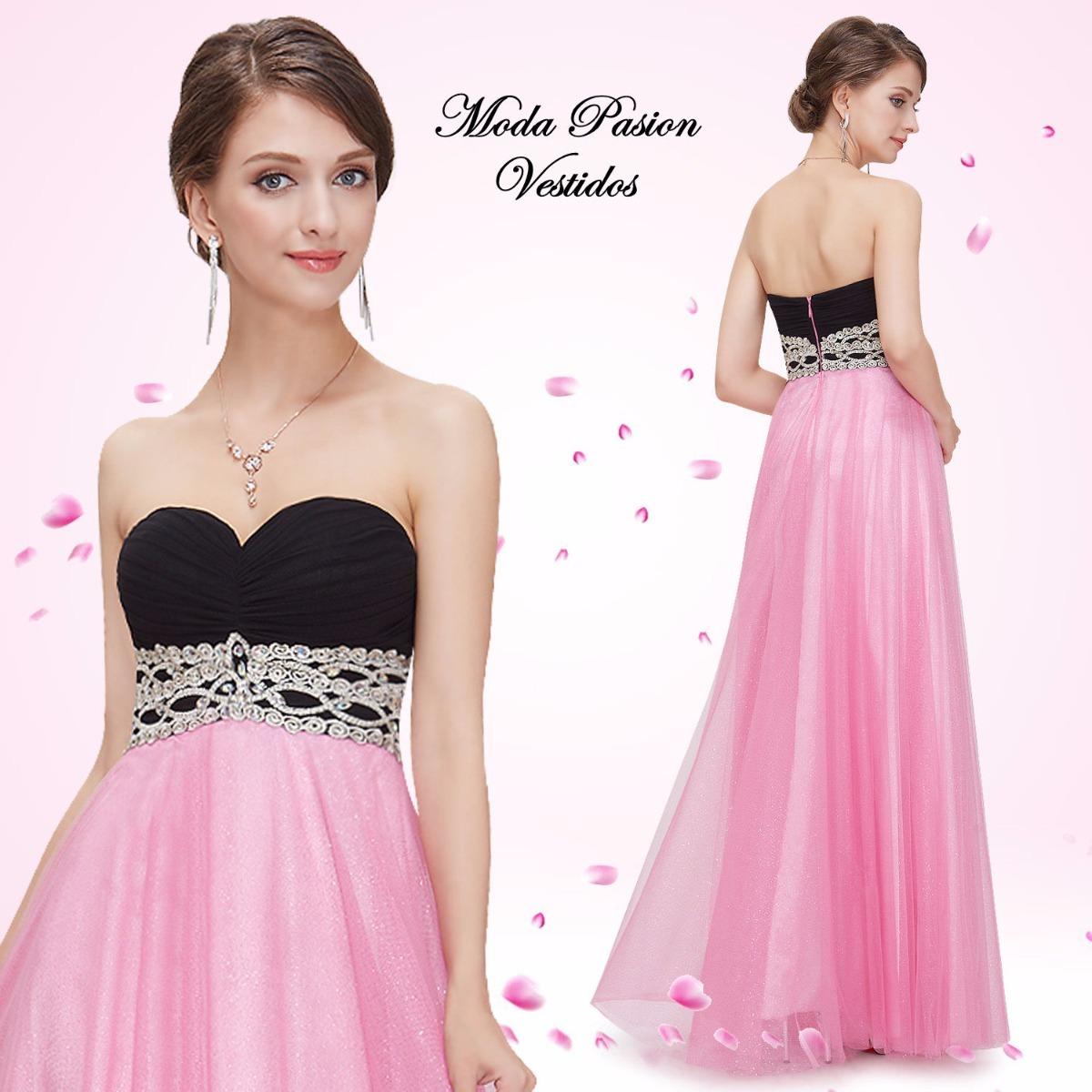 Vestido Princesa Fiesta Largo Straples Corazón Moda Pasión - $ 4.499 ...