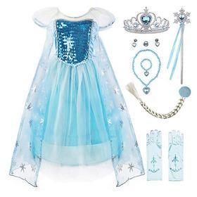 Vestido Princesa Frozen Elsa Disney Disfraz Accesorios Sde