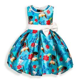 Garantía de calidad 100% moda caliente super servicio Vestido Princesa Moana Disfraz Niñas 3 A 5 Años Vintage