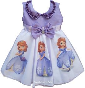 f57484c319 Vestido Princesa Sofia no Mercado Livre Brasil