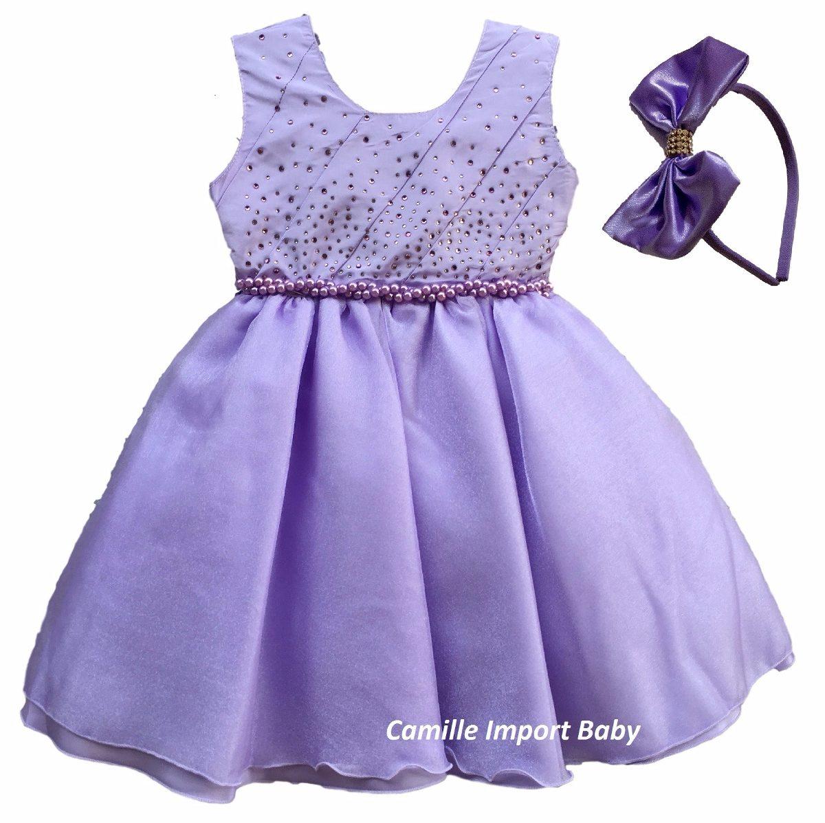 Vestido Princesa Sofia Luxo Festa Luxo Infantil Com Tiara