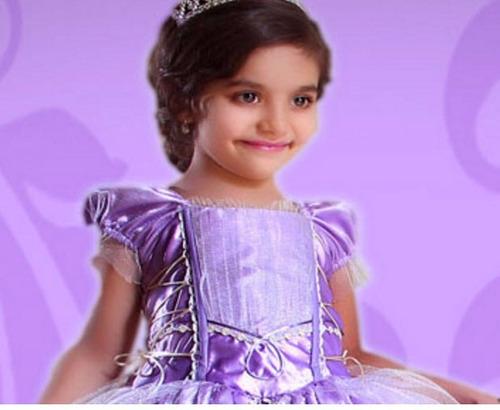 vestido princesa sofía  tallas 10 y 12 envio gratis dhl
