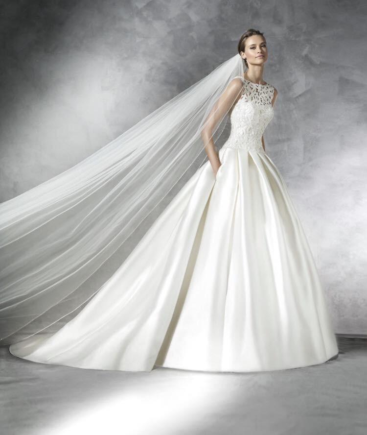 vestido pronovias seminuevo modelo pranette, estilo princesa