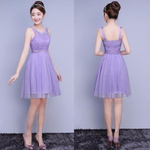 vestido purple delicado fashion grados fiesta cocktail bri