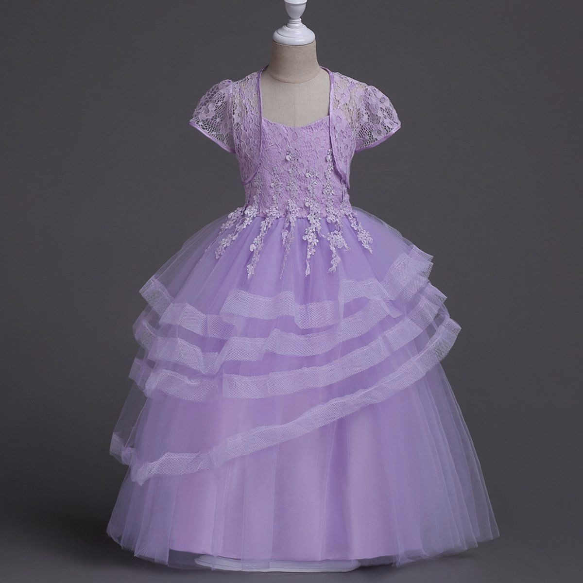 Vestido Purple Princesa Niña Kids Fiesta Bridesmaid Tutu - $ 139.000 ...