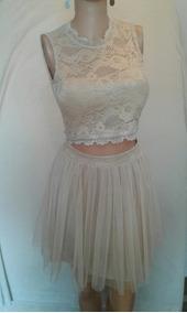 Vestido Quinceañera 2 Piezas Talla S Color Nude