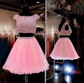 9b69ff793 Vestido Rosa Para Quinceanera - Ropa