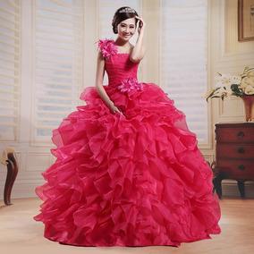 05715c104 Vestido Quinceañera Princesa Olanes Un Hombro Colore Xv Años