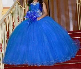 Vestido Xv Años Azul Turquesa Strapless Vestidos De 15