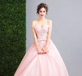 Vestido Nina Color Blush Vestidos De 15 En Mercado Libre