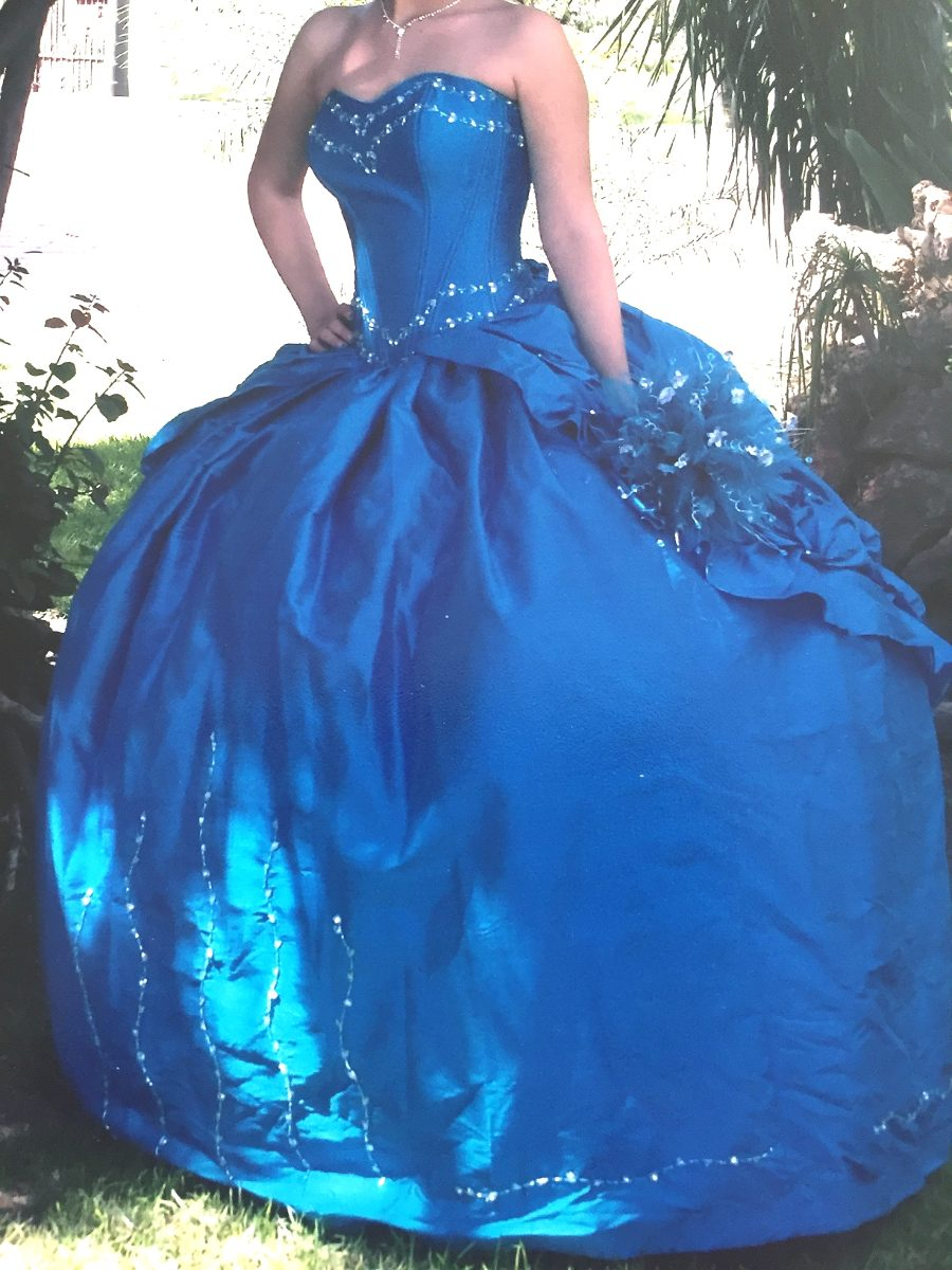 Quinceanera vestido azul turquesa