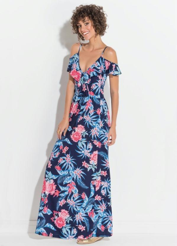 4bce766a8 Vestido Quintess Floral Transpasse No Decote - R$ 117,60 em Mercado ...