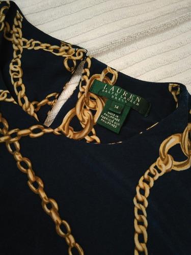 vestido ralph lauren original fiesta dia largo cinto estampa