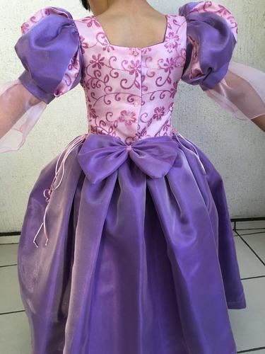 vestido rapunzel princesa disfraz