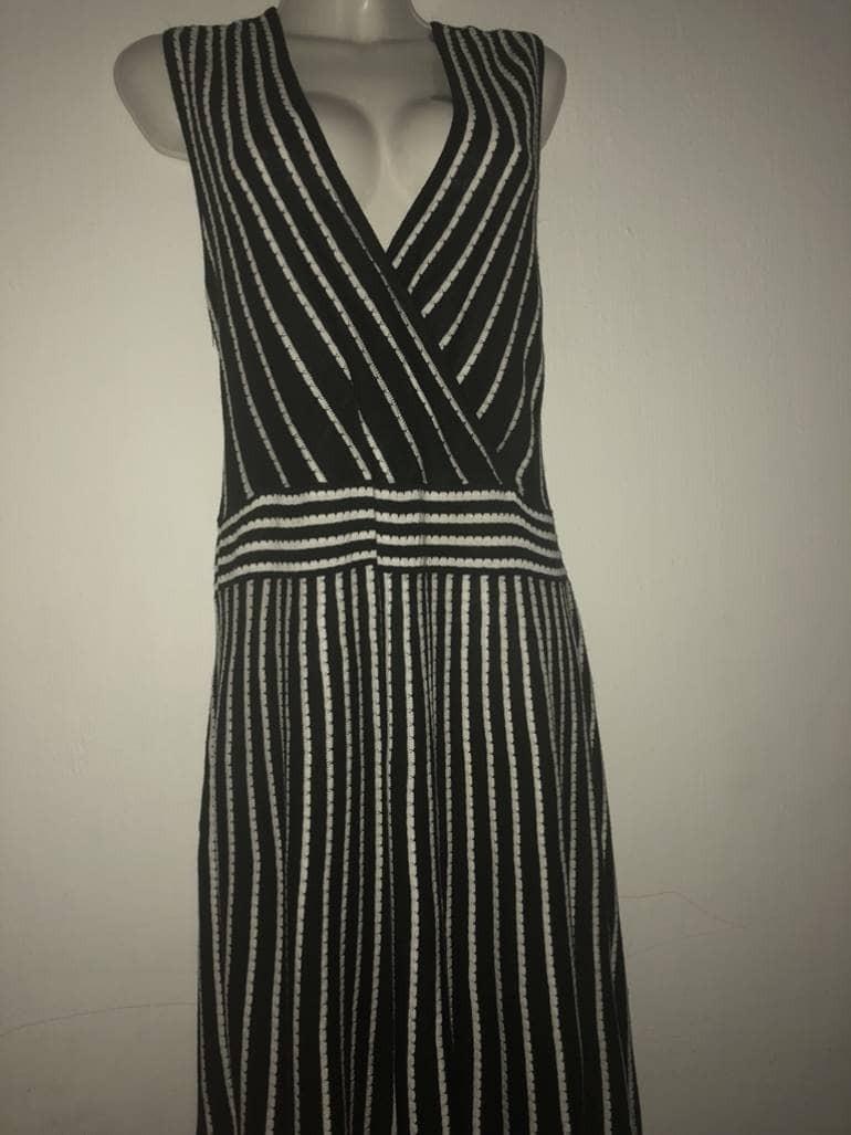 4064af9a3a y vestido blanco Cargando zoom klein calvin negro rayas ww15rqRE