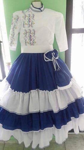 vestido regional  bordado fiestas patrias