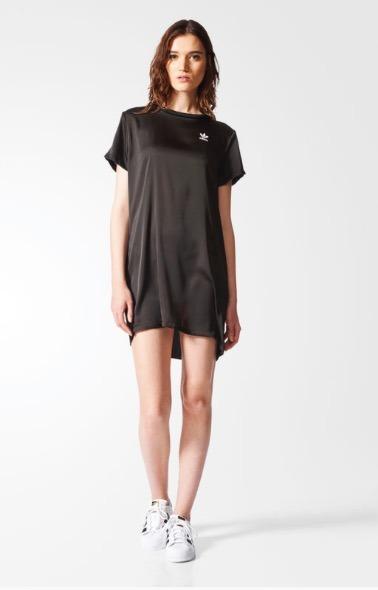 Vestido Remera Trefoil adidas Originals Mujer Negro