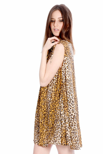 vestido remeron talle grande animal print dia noche valdivia