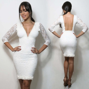 fce5ceb174 Vestido Casamento Civil Curto - Vestidos Curtos Femininas no Mercado Livre  Brasil