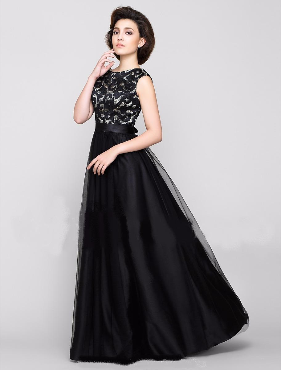 66014ef01 Vestido Renda Com Cetim E Tule Noite Casamento Lindo - R$ 210,00 em ...