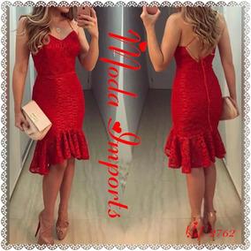 c5f4106ff Maravilhoso Vestido Vermelho Importado Festa Formatura Luxo ...