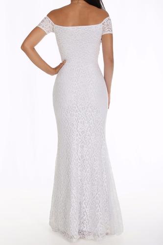 vestido renda longo noiva sereia, ciganinha d007s