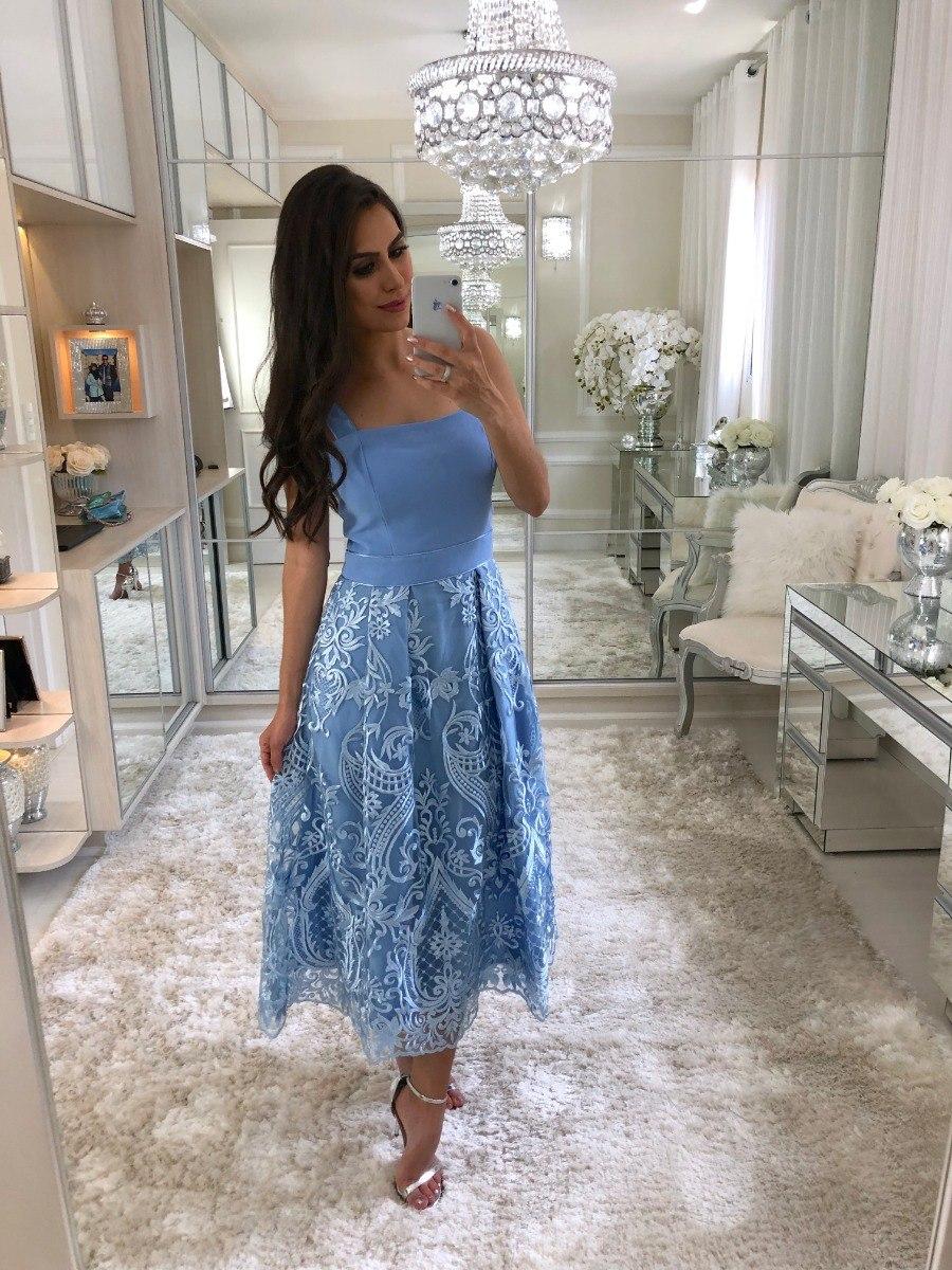 ce471a464f07 Vestido Renda Midi Luzia Fazzolli - R$ 878,00 em Mercado Livre
