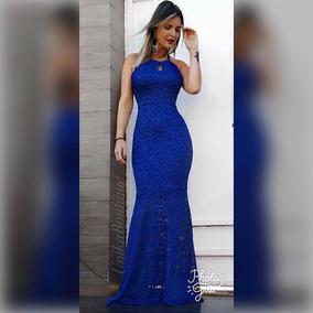 84650e245c Vestido Madrinha Azul Royal - Vestidos Femeninos Longo em Campo Grande com  o Melhores Preços no Mercado Livre Brasil