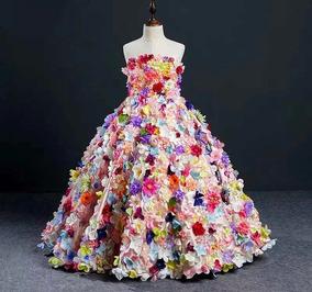 Vestido Reyna De Primavera Niña Comunión Presentación Paje