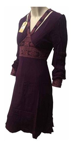 vestido rockford avance 70%off forro viscosa/algodon berry