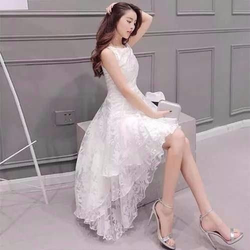 81ce584e9 Vestido Rodado Branco Noiva Casamento #21 Festa Formatura - R$ 126 ...