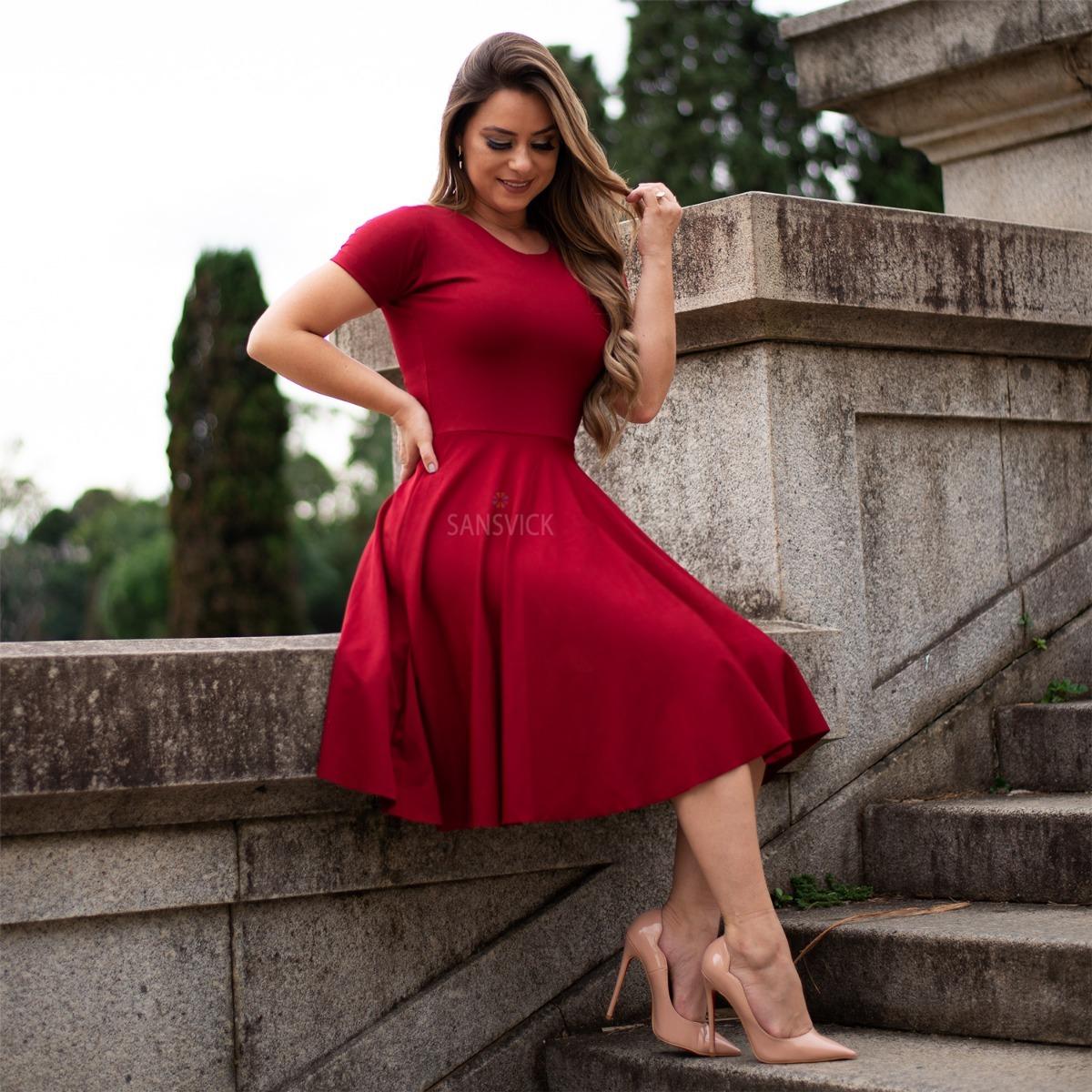 f64ce15593 vestido rodado godê moda evangélica lançamento 2019 festa. Carregando zoom.