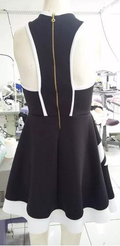 vestido rodado preto luxo neoprene