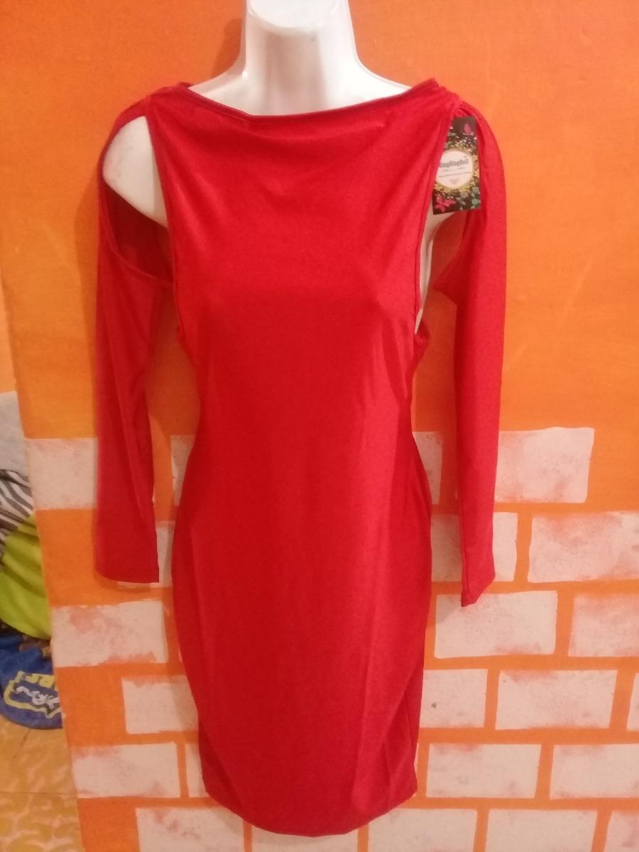 4f565d055d Vestido Rojo Axilas Descubiertas Mangas Largas Moda Asiática ...