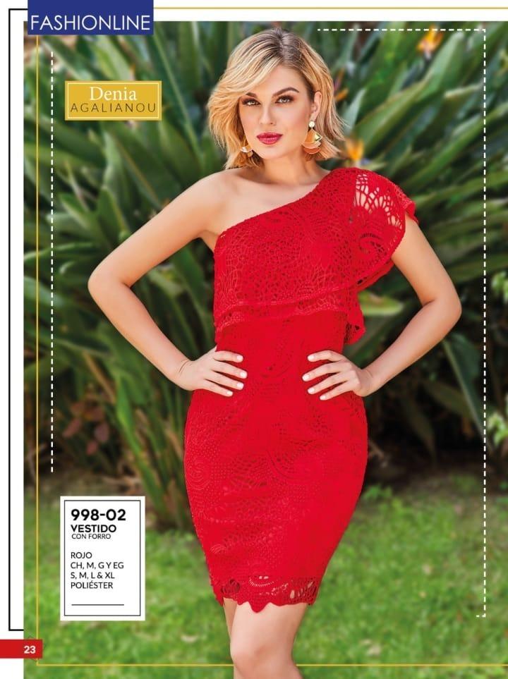 Vestido Rojo Cklass Dama 998 02 Pvms 2019