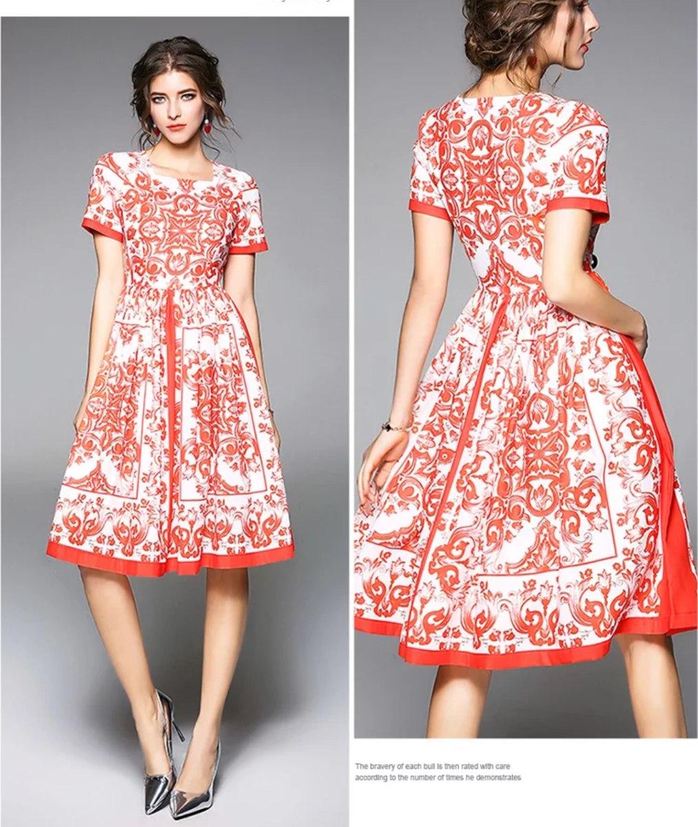 5bc94f1f34928 Vestido Rojo Con Blanco -   990.00 en Mercado Libre