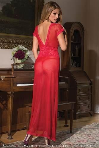 código promocional b385d f0be3 Vestido Rojo Coquette Lenceria De Dama Modelo 1431