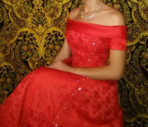 vestido rojo de quinceañera